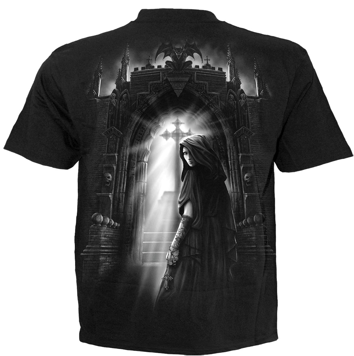 Spiral direct exorcism cool casual mens t shirt black for Cool mens casual shirts
