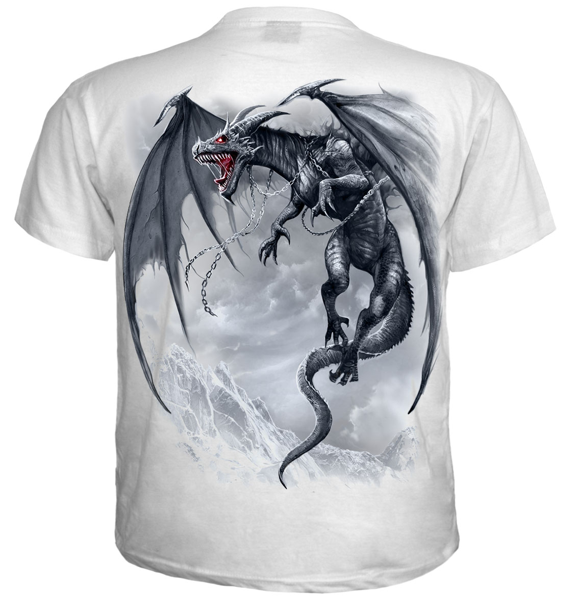 Spiral Direct Dragon 39 S Cry T Shirt White Great Quality