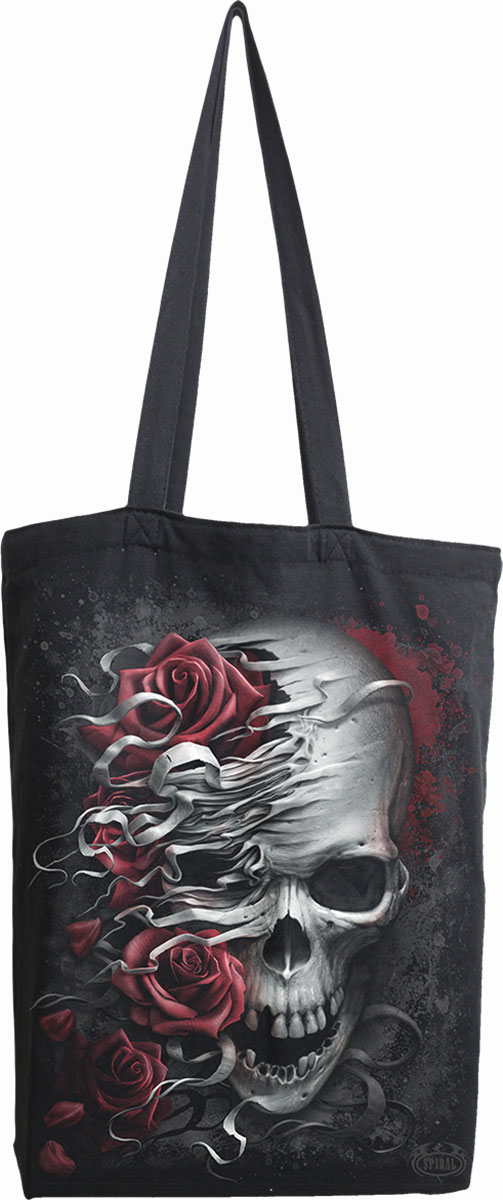 Skulls N' Roses Bag 4 Life - Canvas 80Z Long Handle Tote Bag