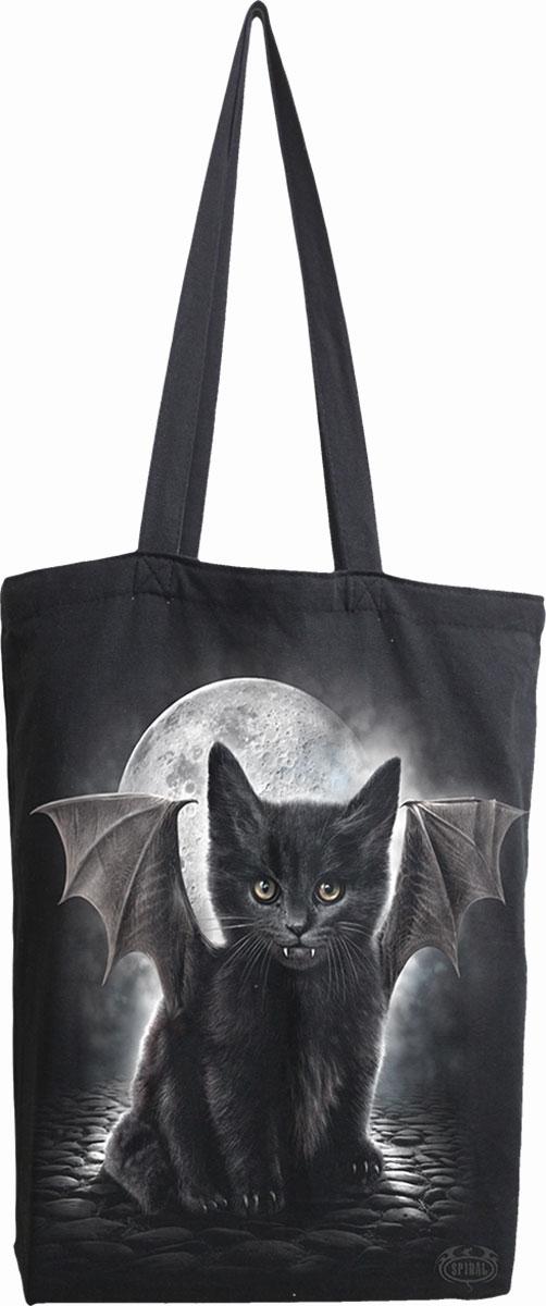 Bat Cat Bag 4 Life - Canvas 80Z Long Handle Tote Bag