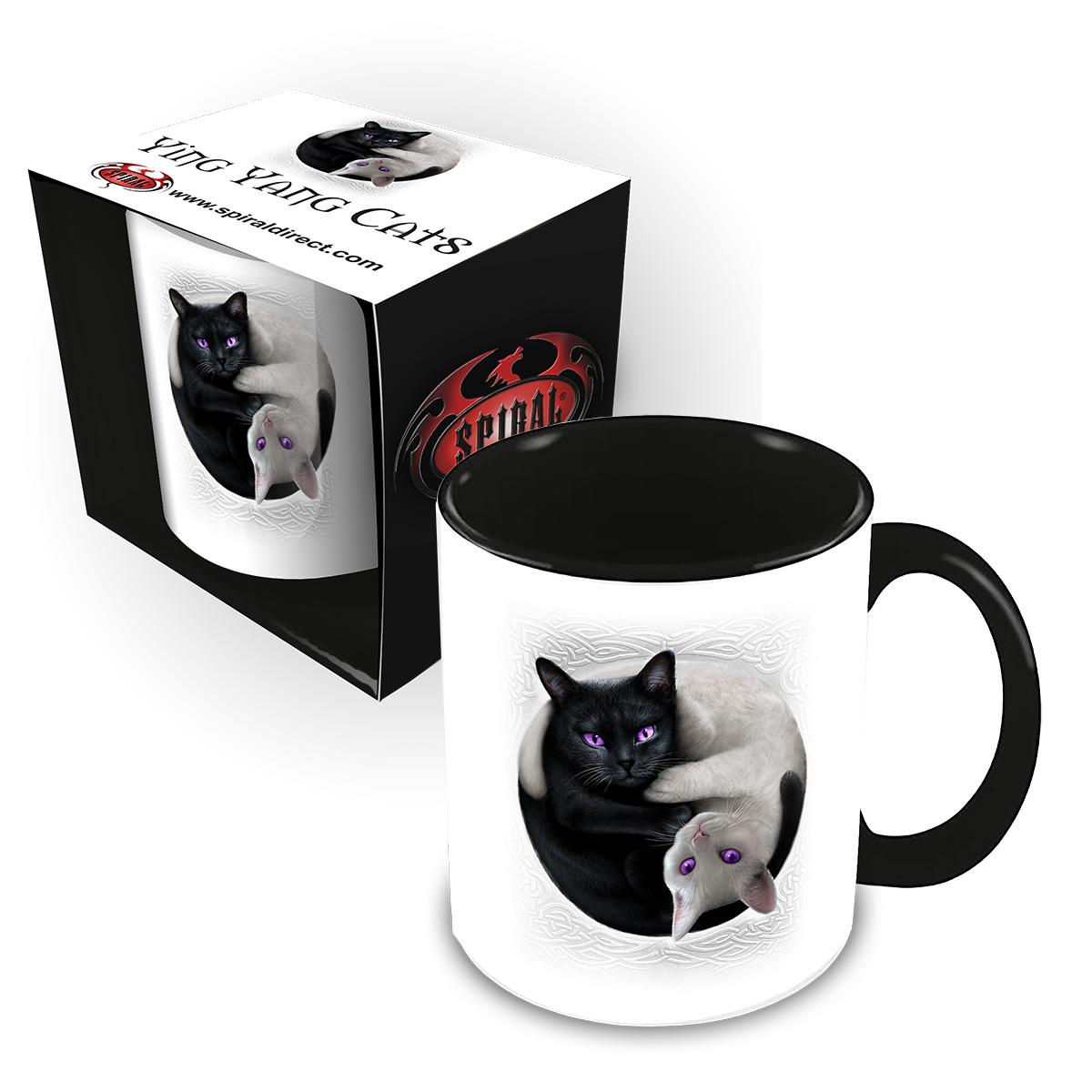 Yin Yang Cats Ceramic Mug 0.3L - Gift Boxed