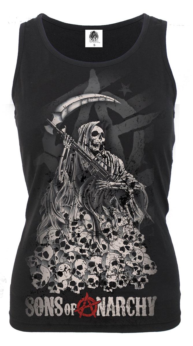 Soa reaper skulls sons of anarchy razor back top black was 1899 soa reaper skulls sons of anarchy razor back voltagebd Gallery