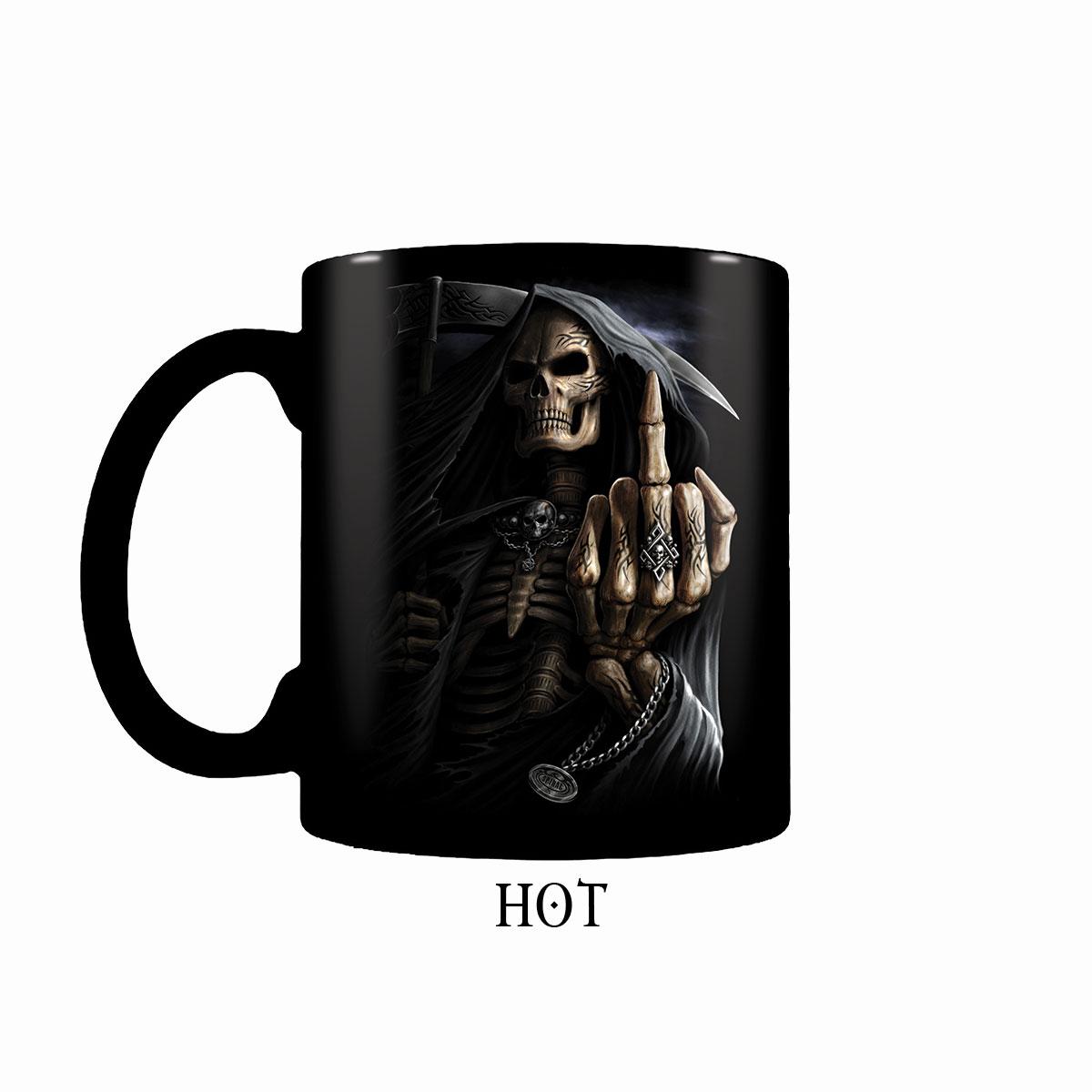 Bone Finger Heat Change Ceramic Coffee Mug - Gift Boxed