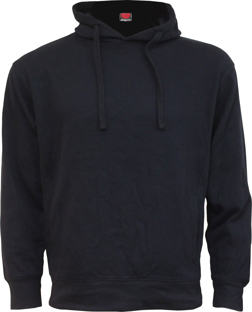 Metal Streetwear Side Pocket Stitched Hoody Black