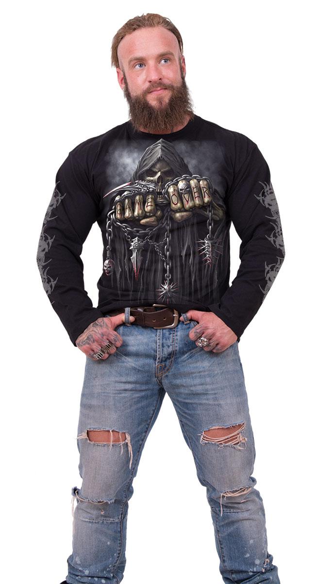 Spiral Direct GAME OVER, Longsleeve T-Shirt Black|Reaper|Skulls ...