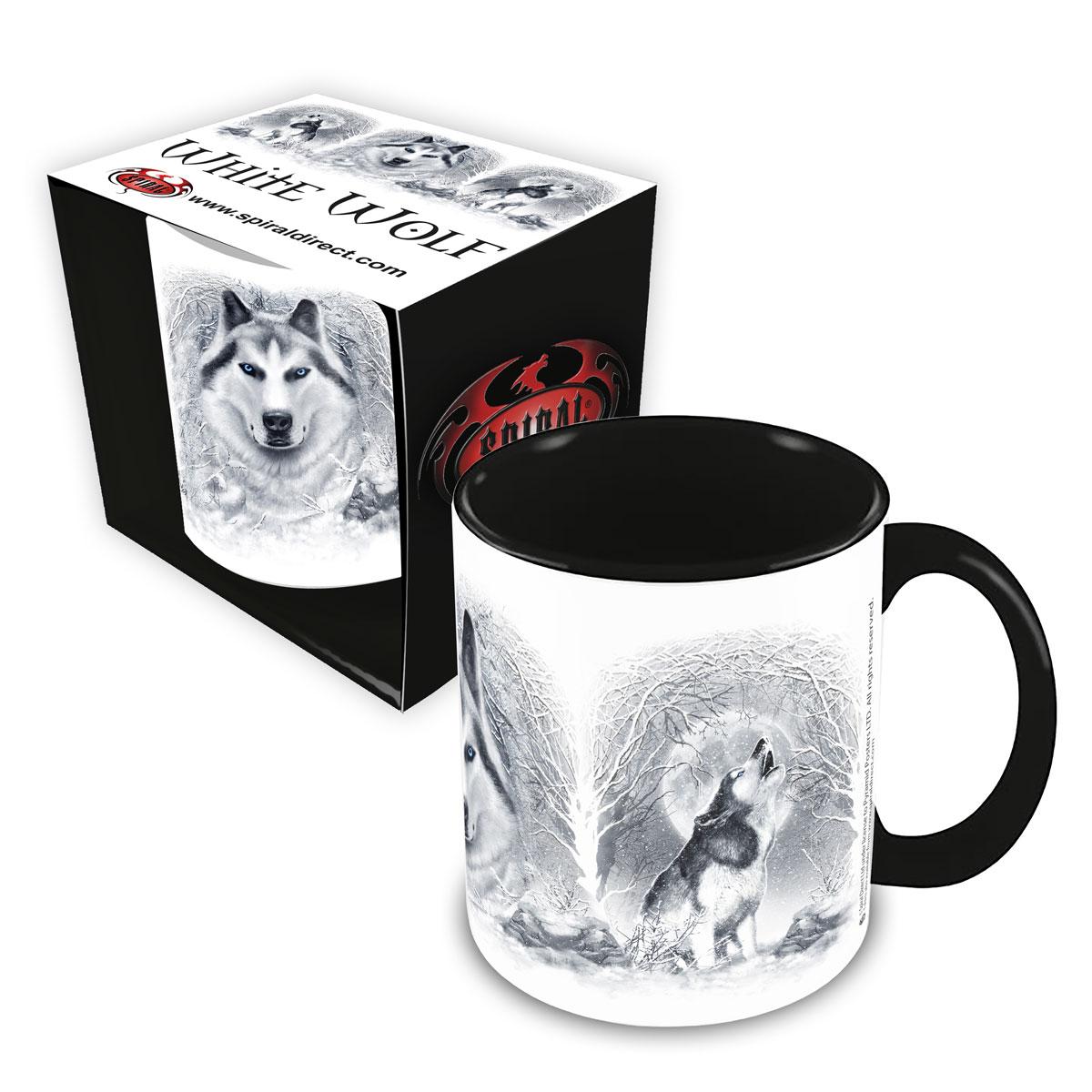 White Wolf Ceramic Mug 0.3L