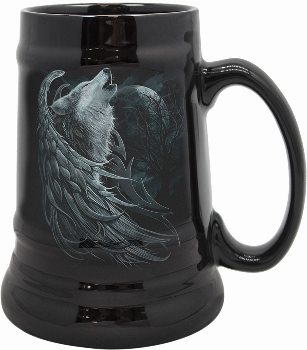 Wolf Spirit Steins - Ceramic Beer Mug - Gift Boxed